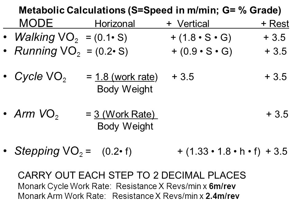 How to calculate exercise energy expenditure - SECOND PART