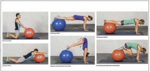 allenamento physioball