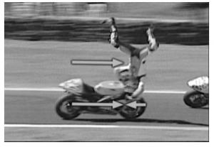 caduta moto topside