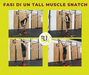 Fasi di un Tall Muscle Snatch