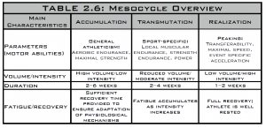 mesocycle overview